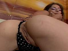 Beautiful latina with great ass gets slammed by black guy