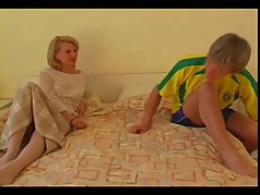 Beauty Milf Blonde with young guy