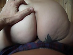 Guy Fucks girl with a tattoo on his ass