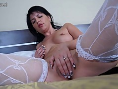 Dirty Arab MILF playing with old cunt