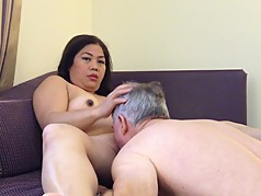 Asian Milf licked clean