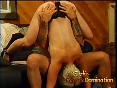 Submissive husband gets a blowjob before a nice hardcore peg