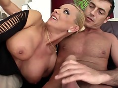 Milf DP fuck and swallow cum