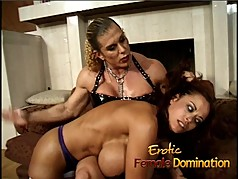 Milf with massive fake tits dominated by an angry bodybuilde