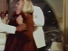 Rich lady gets fucked by her black servants - vintage