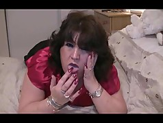 sexy long red nails teasing mike