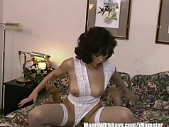Brunette Housewife In Sexy Lingerie Bedroom Fucked