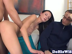 Tattooed milf cuckolds her lover