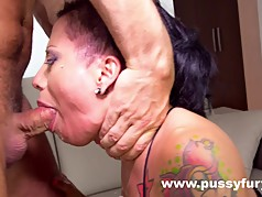 Gigi Love, awesome sloppy deepthroat, throat fuck !