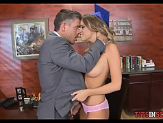 Teen Schoolgirl gets Drilled by Older Guy in Office