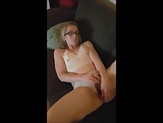 My wife masturbating till she cums