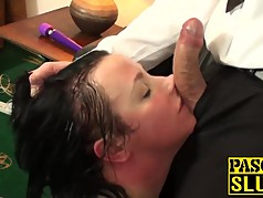 Tattooed BBW fat ass milf slut gets her meat holes stuffed