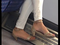 Indian milf sexy heels candid