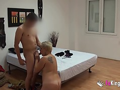 Chubby spanish milf fucks young guy she met on the Internet