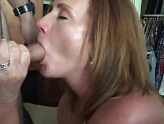 Amateur milf sucking my cock part 2