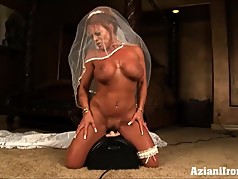 Huge boobed Asian gets dirty for you
