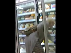MILF in Tesco with amazing bust