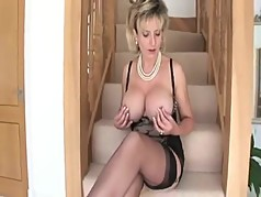 British Milf Entices You At The Bottom Of The Stairs