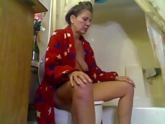 Sexy MILF on Toilet 2