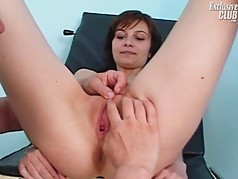 Mom Terri having pussy examined by old kinky doctor on gynoc
