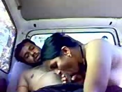 Indian couple in car